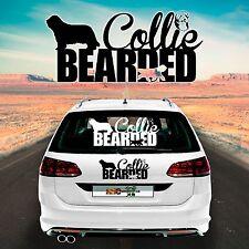 Car Sticker Bearded Collie M1 Sticker for the Car Sticker Car Foil