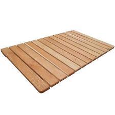 Pedana doccia antiscivolo 105x63 per piatto rettangolare in legno di larice