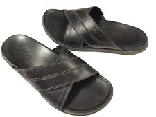 Men's Ecco Slides Sandals,  Size 43, Black, EUC