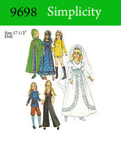 Simplicity 9698 - 17 1/2 inch doll clothes pattern - Crissy, Velvet, Kerry, etc