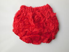 Mud Pie baby girl red velour rosette nappy cover size 000 Fits 0-6 m NEW  *Gift*