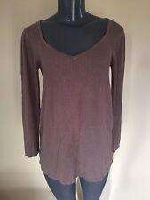 BCBG Sweater Tunic Top M/L Brown Long Sleeve Sislou W20