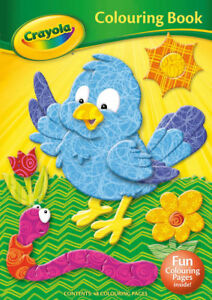 Crayola Colouring Book Bird Cover 48 Pages for Kids Children Learn Fun Gift 2905