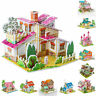 3D Puzzle Jigsaw craft Kids Kit Toy Model DIY Construction Gift