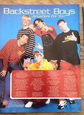 BACKSTREET BOYS Anywhere For You lyrics magazine PHOTO/Poster/clipping 11x8 inch