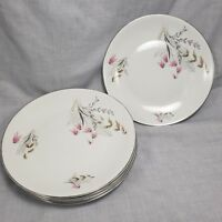 Vtg Royal Duchess China 5 Salad Plates Mountain Bell Germany Floral Cake 7.5 in