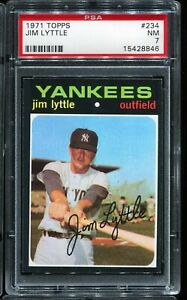 1971 Topps Baseball #234 JIM LYTTLE New York Yankees PSA 7 NM