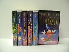 5 RARE DISNEY BLACK DIAMOND VHS TAPES + BONUS FANTASIA VHS TAPE - NEW