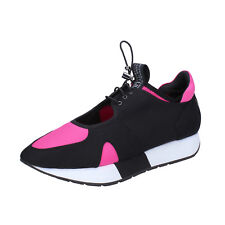 scarpe donna LIU JO 38 EU sneakers nero fucsia tessuto BT278-38