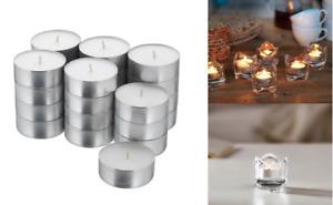 IKEA Glimma 24,48,72,96 Tea Light Candles Unscented White 59mm Wax Tealight 9 hr