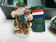 Roman Inc. Christmas Around the World Dutch Alpine Santa and Tree figurines