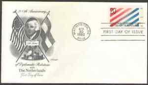 US. 2003. 20c. US-Netherlands. Artmaster FDC. 1982