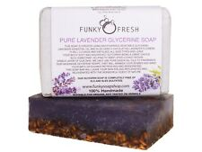 Pure Lavender Glycerine Soap infused with Lavender Flowers, 100% Natural, 95g