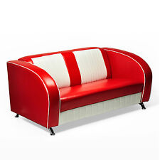 """AMERICAN SOFA """"Colorado"""" COUCH 50er USA STYLE DINERBANK SITZBANK 180cm rot"""