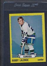 1973/74 Topps #189 Bobby Lalonde Canucks NM *1005