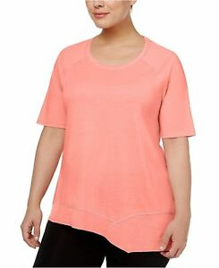 Calvin Klein Women's Scoop Neck Performance T-Shirt Tart plus 3X