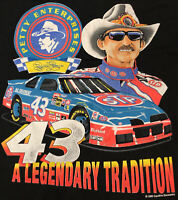 VINTAGE 1995 RICHARD PETTY THE KING ! STP NASCAR HUGE GRAPHIC ! XL T-SHIRT ! 🔥