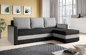 Couchgarnitur Sofa Sofagarnitur PAULE L mit Schlaffunktion Wohnlandschaft NEU