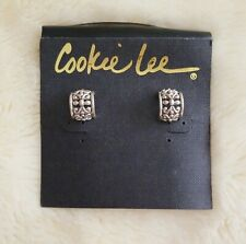 Cookie Lee Silver Tone Ear Hugger Filigree Earrings