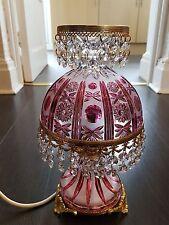 Lámpara De Vidrio Vintage arándano.