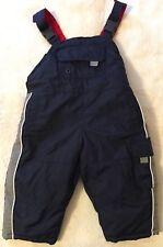 Osh Kosh Snow Pants Boys Size 12 Months Navy Winter Overalls
