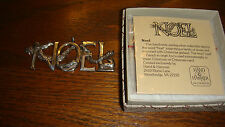 Hand & Hammer (H&H) Sterling Silver Noel Christmas Ornament