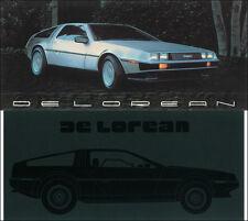 DeLorean Set of 2 Color Sales Folders MINT 1981 1982 1983 De Lorean Brochures