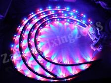 "NEW 7 Color LED Under Car Glow Underbody System Neon Lights Kit 48"" x 2 36"" x 2"