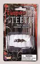PLASTIC VAMPIRE DRACULA TEETH FANGS DARK WORLD HALLOWEEN COSTUME ACCESSORY