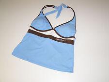 ZERO XPOSUR Womens Blue Brown Tankini Swim Top Only size 10