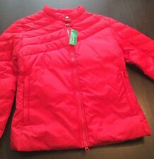 New United Colors of Bennetton Women's Red Puffer Jacket Size Medium (M)