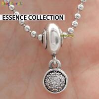 S925 Sterling Silver Essence Collection Hope Pendant Charm Clear CZ Fit Bracelet