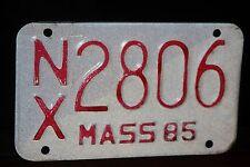 1985 MASSACHUSETTS License Plate * Motorcycle *** '85 MASS