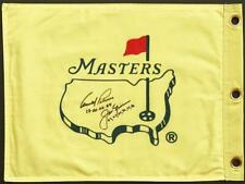 JACK NICKLAUS & ARNOLD PALMER SIGNED MASTERS FLAG  W/ DATES PSA/DNA 2A25463