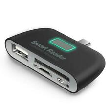 4 in 1 OTG/TF/SD Smart Card Reader Adapter USB-C Charge Port
