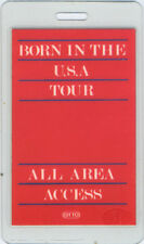 BRUCE SPRINGSTEEN 1984 BORN IN THE USA LAMINATED BACKSTAGE PASS