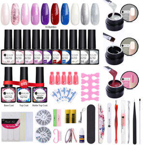 UR SUGAR  Nail UV Gel Starter Set 10/20pcs Polish Nail File Tools Top Base