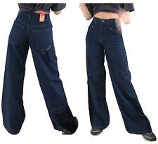 Dank Damen Mädchen Herren Vintage Weites Bein 90s Baggy Skater Jeans Denim Hose