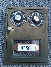 Vintage Combination Post Office PO Mail Box Door ,