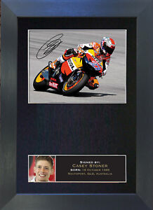 CASEY STONER Signed Mounted Reproduction Autograph Photo Prints A4 44
