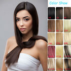 AAA Grade Clip in Real Human Hair Extensions Black Brown Blonde Red Hot New