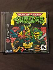 Teenage Mutant Ninja Turtles Arcade Game Custom Sega Dreamcast Game.