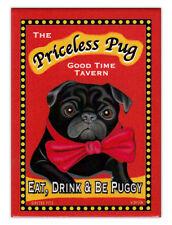 Retro Dogs Refrigerator Magnets - Priceless Pug Tavern - Vintage Advertising Art