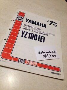 Yamaha YZ 100 YZ100 E Guía Presentación Modelo 78