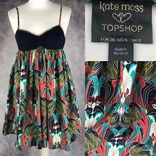 KATE MOSS TOPSHOP Sundress Liberty Nouveau Print Size 8 Arty Deco William Morris