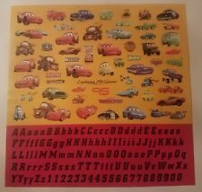 WDW: Scrapbook Sticker  Sheet 12 x 12: Cars McQueen Letter Alphabet Disney