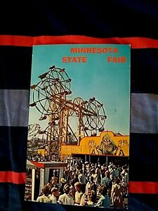 Minnesota State Fair midway postcard
