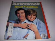 Newsweek Magazine, August 3, 1981, Royal Wedding, Prince Charles Princess Diana!