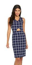 Girls On Film Blue / White Grid Check Dress Size 10 BNWT B8