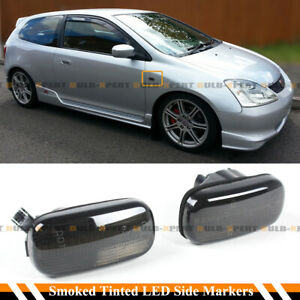 FOR CIVIC ES EP3 FD RSX DC5 SMOKE TINTED LENS LED FEDNER SIDE MARKER LAMP LIGHT